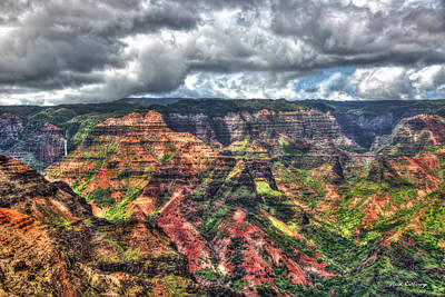 Photograph - Waimea Canyon The Grand Canyon Of The Pacific Kauai Collection Art by Reid Callaway