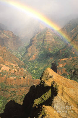 Photograph - Waimea Canyon Rainbow by Brent Black - Printscapes