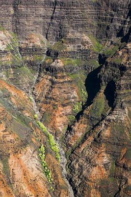 Photograph - Waimea Canyon Walls by Robert Potts