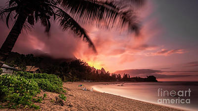Photograph - Wainiha Kauai Hawaii Bali Hai Sunset by Dustin K Ryan