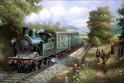 Painting - Wainwright 0-4-4t In Kent. by Mike Jeffries