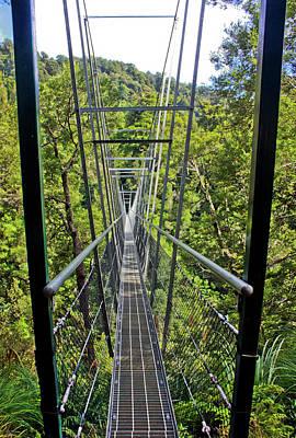 Photograph - Waiohine Gorge Swing Bridge by Bruce