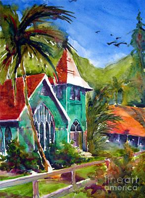 Waioli Church Art Print by Jerri Grindle