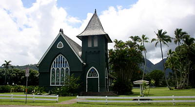 Wai'oli Hui'ia Church Art Print by Annie Babineau