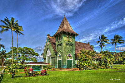 Photograph - Wai'oli Hui'ia Church 2 Hanalei Kauai Hawaii Art by Reid Callaway