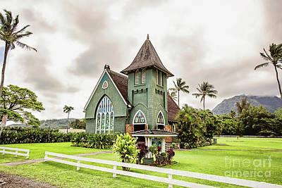 Photograph - Wai'oli Hui'ia Church - Hdr by Scott Pellegrin