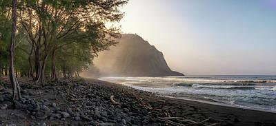 Photograph - Waipio Beach Panorama by Susan Rissi Tregoning