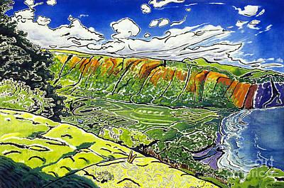Fay Painting - Waipio Valley by Fay Biegun - Printscapes