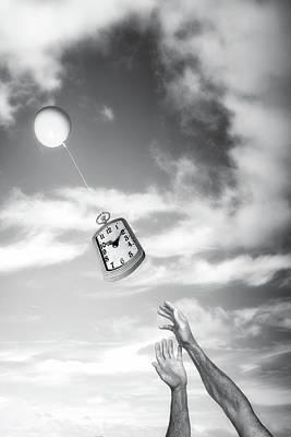 Floating Photograph - Wait A Minute by Tom Mc Nemar