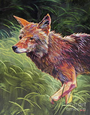 Coyote Painting - Wait For It by Patricia A Griffin