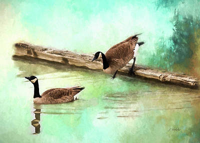 Painting - Wait For Me - Wildlife Art by Jordan Blackstone