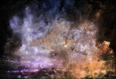 Pass Mixed Media - Wait For The Storm To Pass Abstract by Georgiana Romanovna