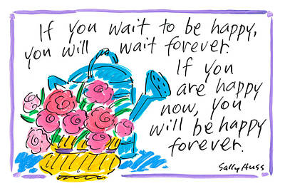 Wall Art - Painting - Wait To Be Happy by Sally Huss