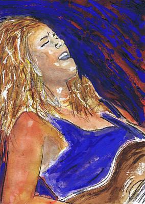 Waited For June A Portrait Of Megan Burtt Print by Charles Snyder