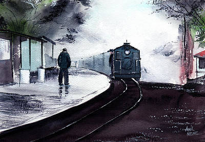 Painting - Waiting by Anil Nene