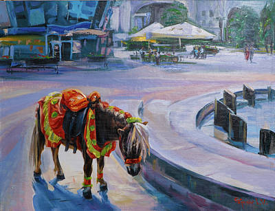 Nag Painting - Waiting by Anton Popov