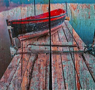Row Boat Digital Art - Waiting Boat by Anthony Robinson