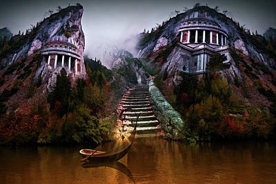 Digital Art - Waiting Boat by Mihaela Pater