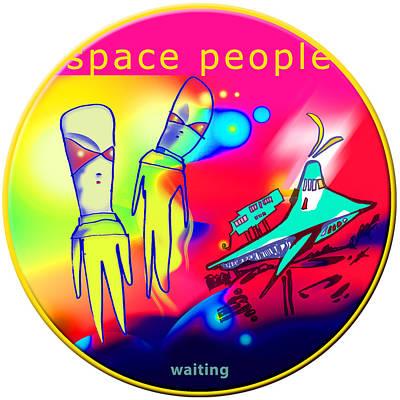 Waiting Original by Carlos Antonio Nogueira
