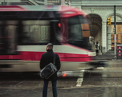 Photograph - Waiting by City Street Photos