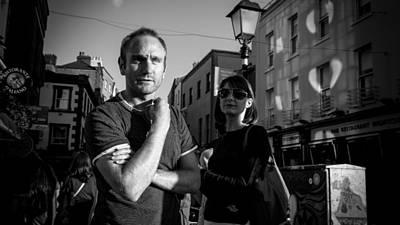 35mm Photograph - Waiting - Dublin, Ireland - Black And White Street Photography by Giuseppe Milo