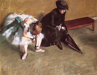 Waiting Art Print by Edgar Degas