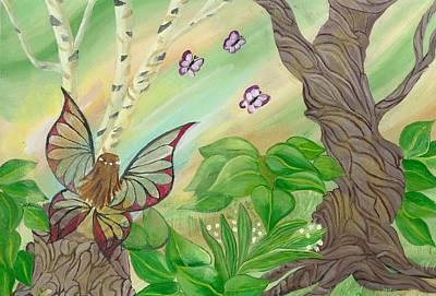 Waiting Fairy Original by Gail Peltomaa