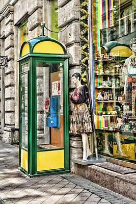 Budapest Photograph - Waiting For A Call In Budapest by Sharon Popek