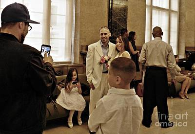Photograph - Waiting For A City Hall Wedding Nyc by Sarah Loft