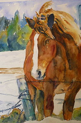 Art Print featuring the painting Waiting For A Friend by P Maure Bausch