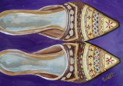 Fancy Shoes Painting - Waiting For A Night Out by Tammy Watt