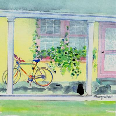 Screen Doors Painting - Waiting For A Ride by Melody Allen