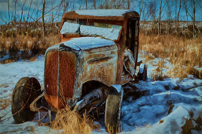 Photograph - Waiting For A Sunday Drive-digital Painting by Jeff Folger