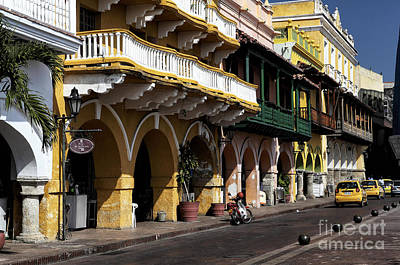 Photograph - Waiting For A Taxi In Cartagena by John Rizzuto