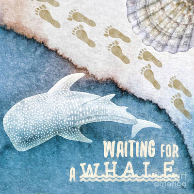 Painting - Waiting For A Whale by Mo T