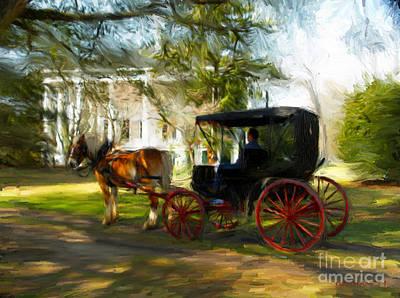 Mansion Digital Art - Waiting For Belle by Dwayne  Graham