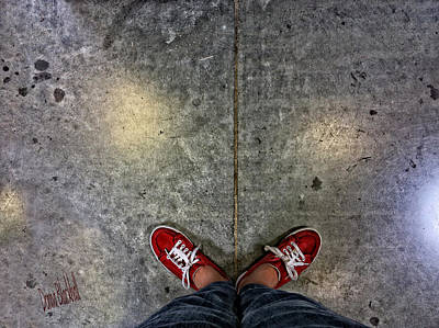 Tennis Shoes Photograph - Waiting For Clown School by Donna Blackhall