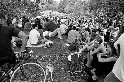 Photograph - Waiting For Dali Lama Central Park by Dave Beckerman