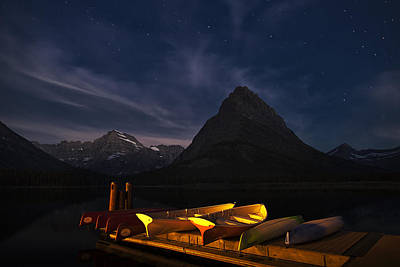 Canoe Photograph - Waiting For Dawn by Andrew Soundarajan