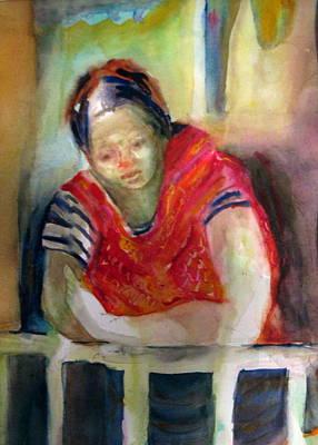 Waiting For Family In Guatemala Art Print