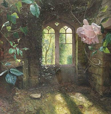 Sun Rays Painting - Waiting For Love's First Kiss by Helen Parsley