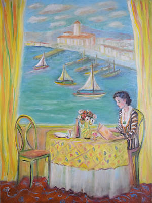 Impressionism Painting - Waiting For Matisse by Verlaine Crawford