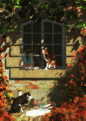 Painting - Waiting For More Milk by Jan Keteleer
