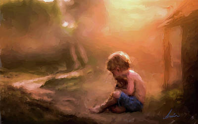 Mother Goose Painting - Waiting For Mother Goose by Armin Sabanovic