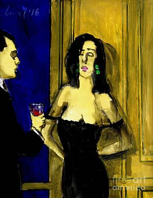 Painting Royalty Free Images - Waiting For Mr Right Royalty-Free Image by Harry WEISBURD