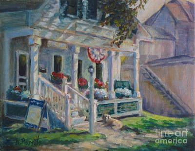 New Hampshire Artist Painting - Waiting For My Best Friend by B Rossitto