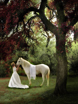 Bride Of Christ Painting - Waiting For My Prince by Constance Woods