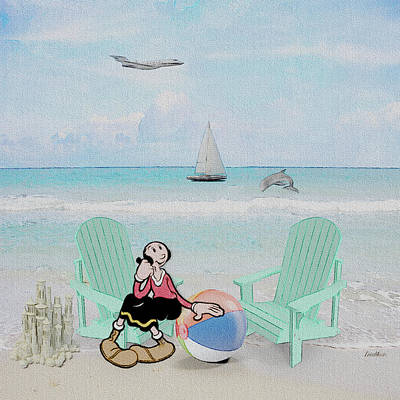 Digital Art - Waiting For Popeye by Ericamaxine Price