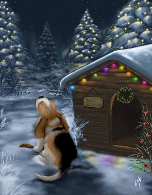 Painting - Waiting For Santa Claus by Veronica Minozzi