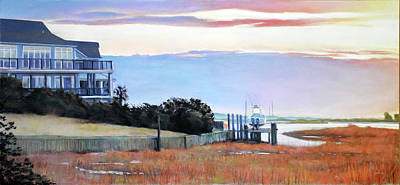 Marsh Painting - Waiting For Spring by Christopher Reid